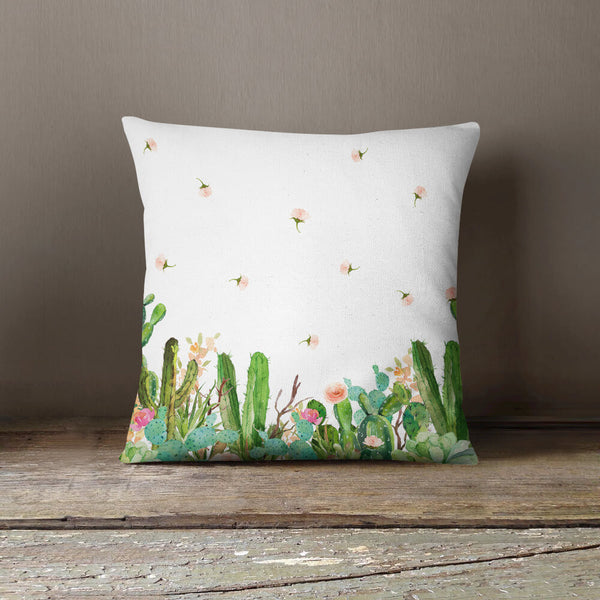 Western Floral Garden Throw Pillow
