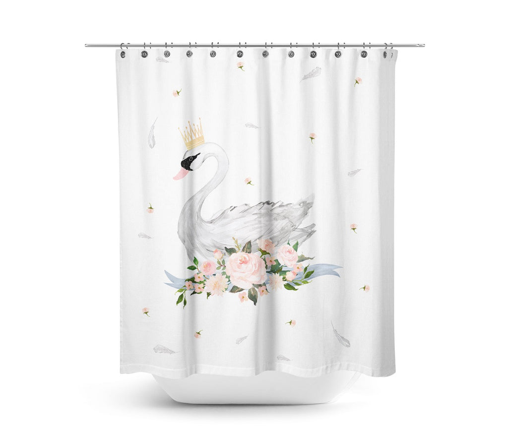 Crowned Swan Shower Curtain