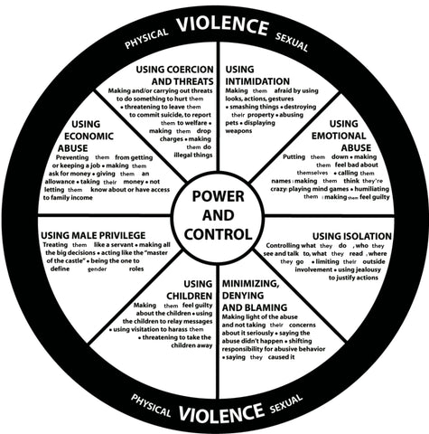 Physical violence power and control wheel