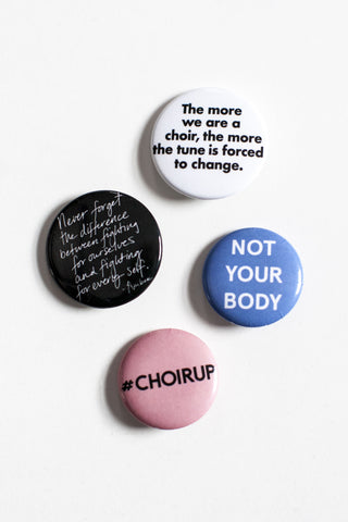 MY SISTER x Amber Tamblyn #ChoirUp Button 4-Pack