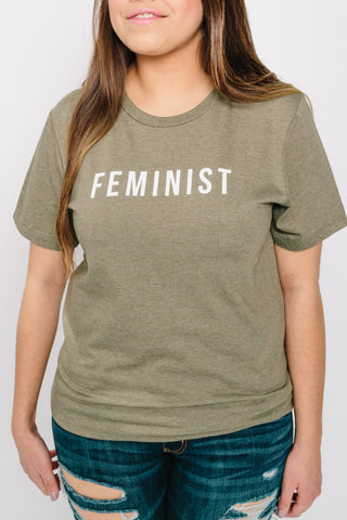 Feminist Olive Green Tee | MY SISTER