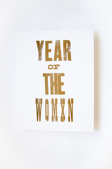 Year of the Womxn Letterpress Print | MY SISTER