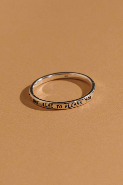 Not Here to Please You Stacking Ring | MY SISTER