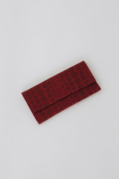 Polka Dots in Burgundy Clutch Wallet | MY SISTER