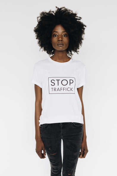 Stop Traffick White Tee | MY SISTER