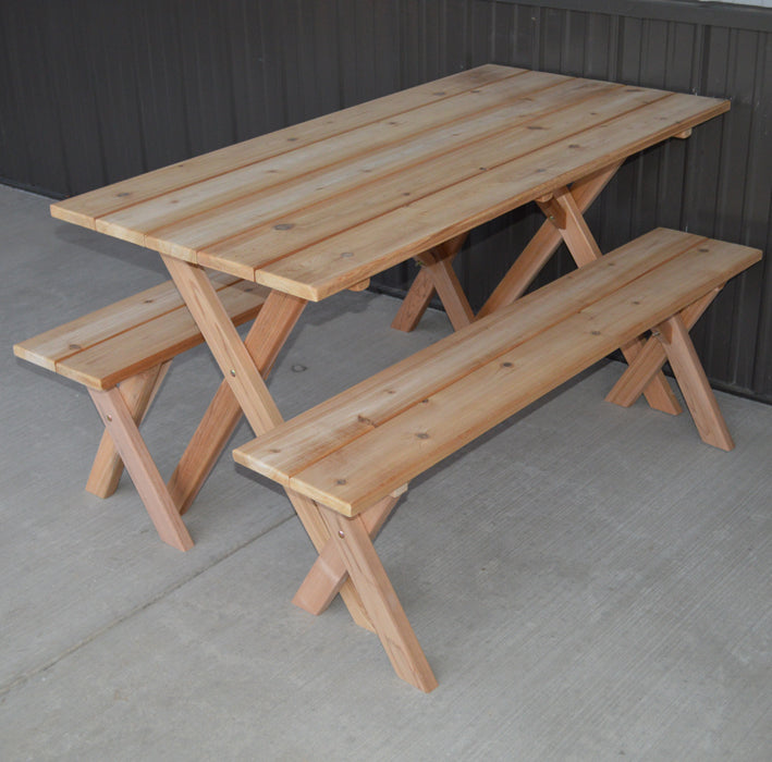 5' Cedar Economy Table w/ 2 benches