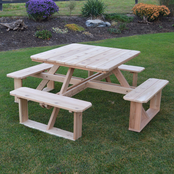 "44""  Square Walk-In Picnic Table"
