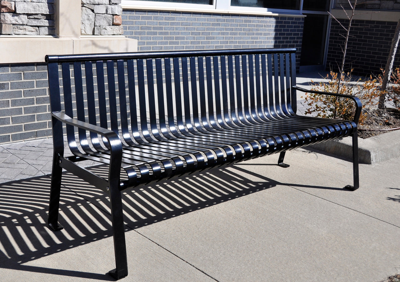 Heavy Duty Steel Park Bench