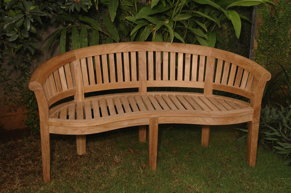 Extra Thick Curved Back Teak Bench Bh 005ct
