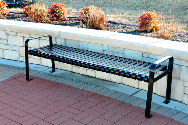 Aspen Backless Steel Park Bench