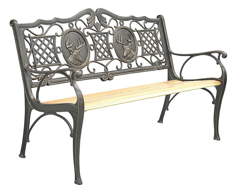 Deer Cast Iron Bench