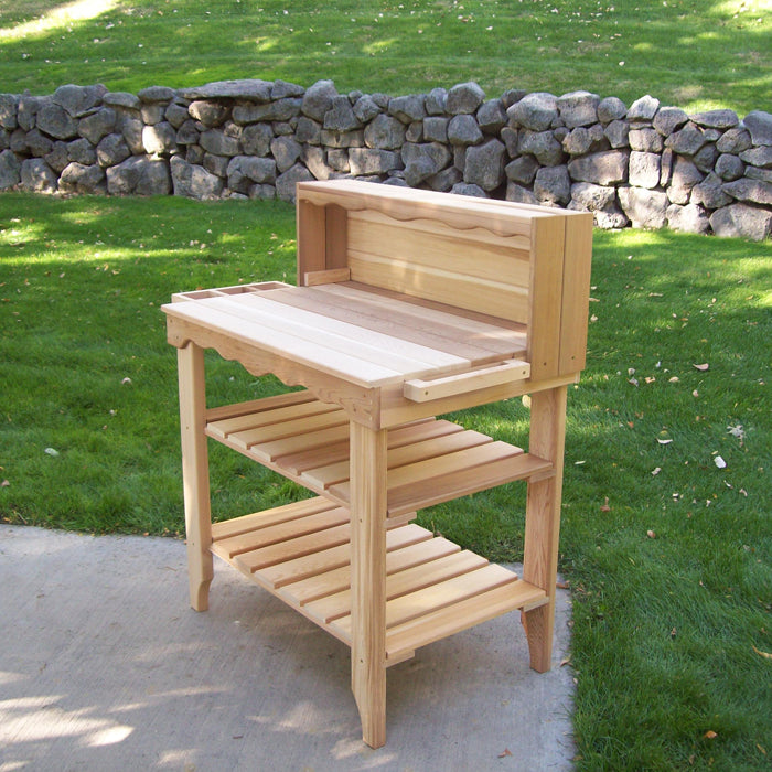 Cedar Wood Deluxe Potting Bench