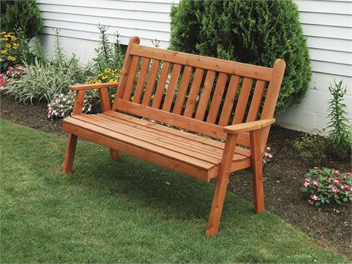 Traditional English Cedar Bench