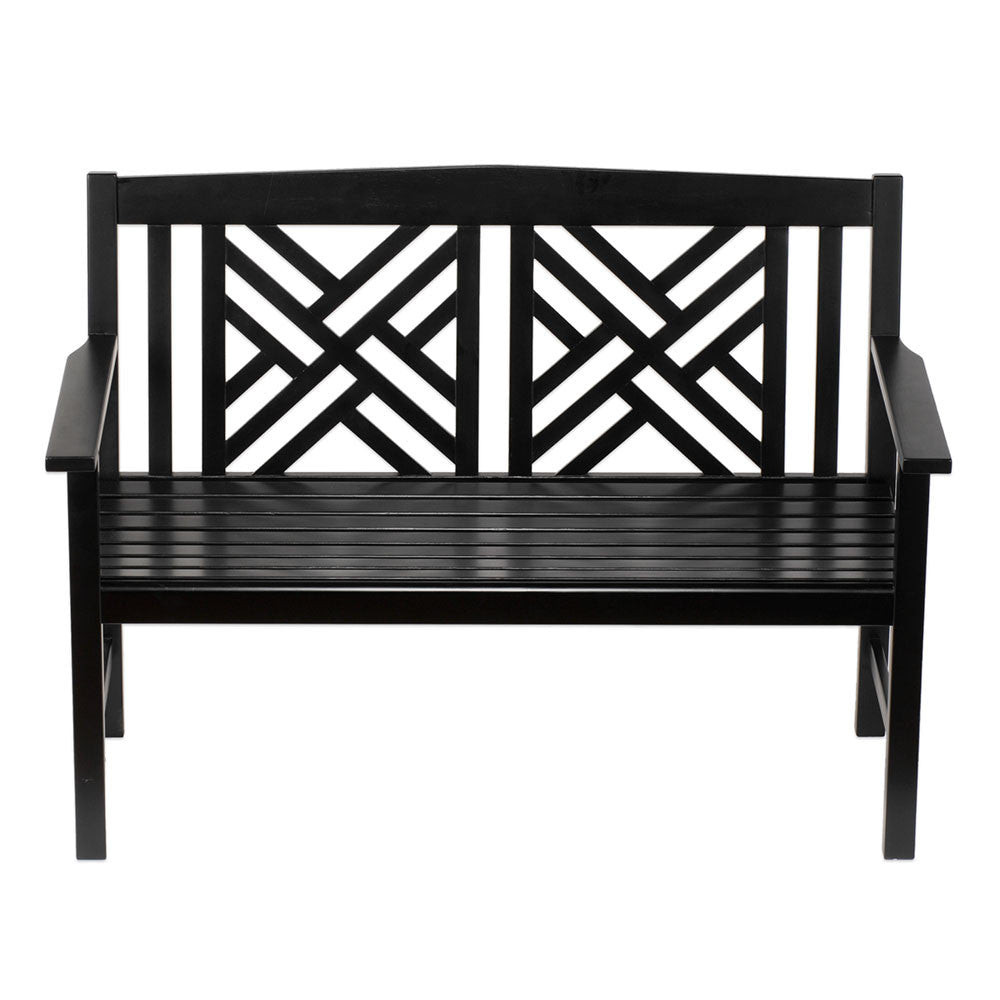 Black Fretwork Bench
