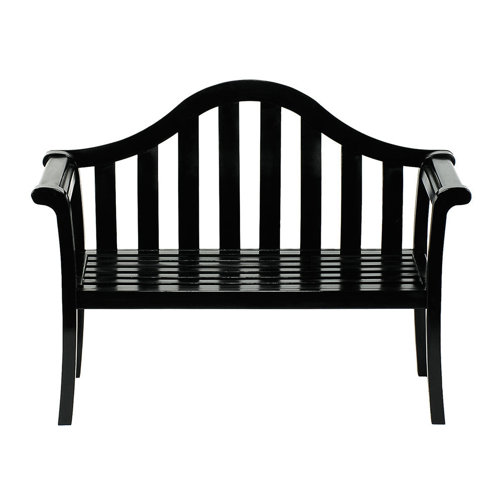 Black Camelback Bench
