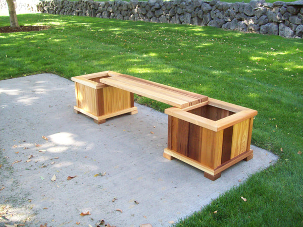 Cedar Planter Bench Set