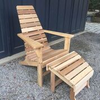 New Hope Cedar Adirondack Chair & Stool
