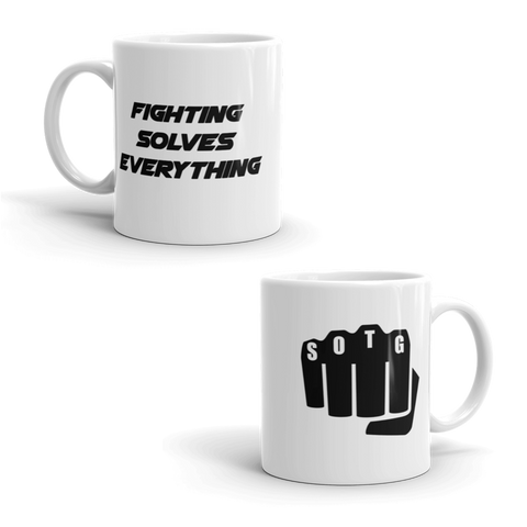 Fighting Solves Everything Mug