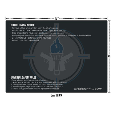 "Official SOTG 12x17"" Cleaning Mat"