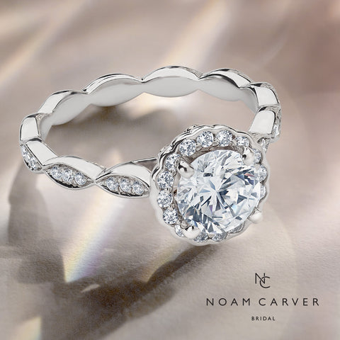Noam Carver white gold diamond engagement ring