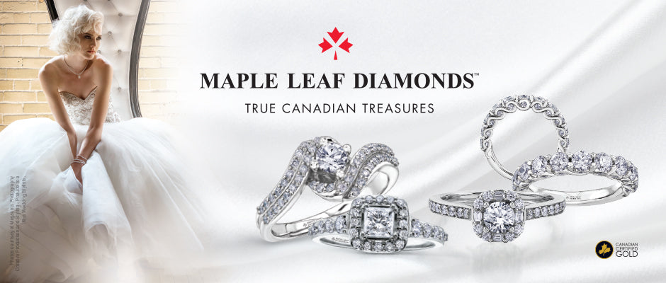 Canadian Maple Leaf Diamonds at Dana's Goldsmithing
