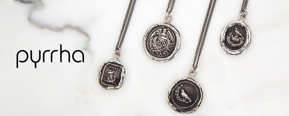 Pyrrha sterling silver talismans reclaimed silver with historic meaning