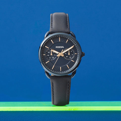Fossil blue leather watch
