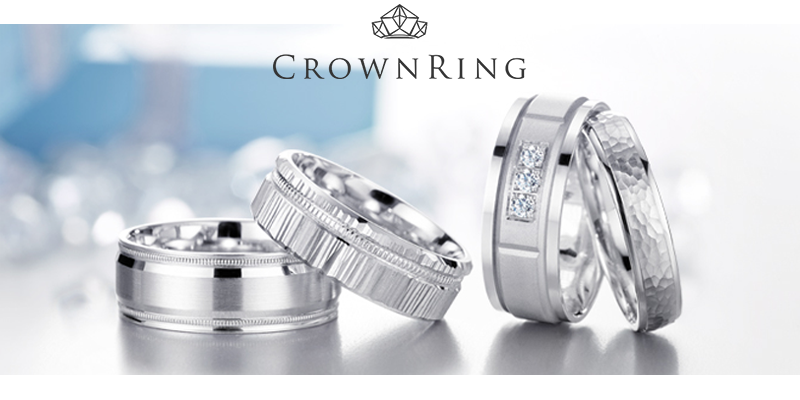 CrownRing wedding bands - white, yellow and rose gold, platinum and palladium