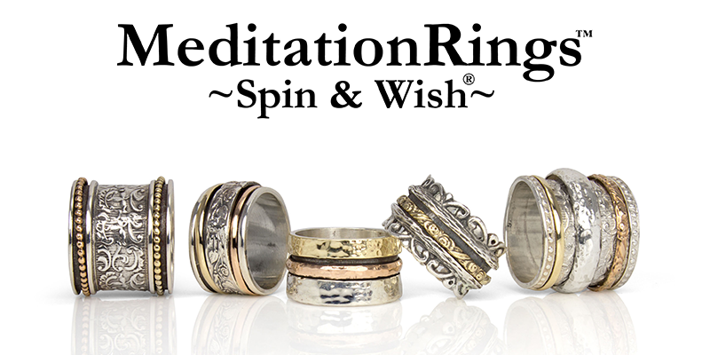 MeditationRings spin and wish ring spinning rings to help relieve stress