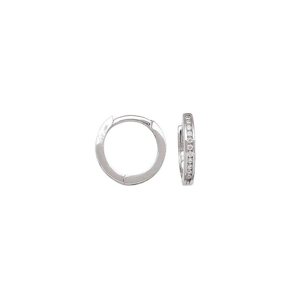 Gold Cubic Zirconia Hoop Earrings (33010)
