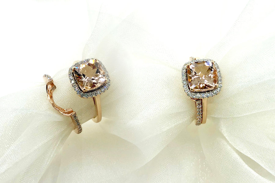 Morganite and Diamonds