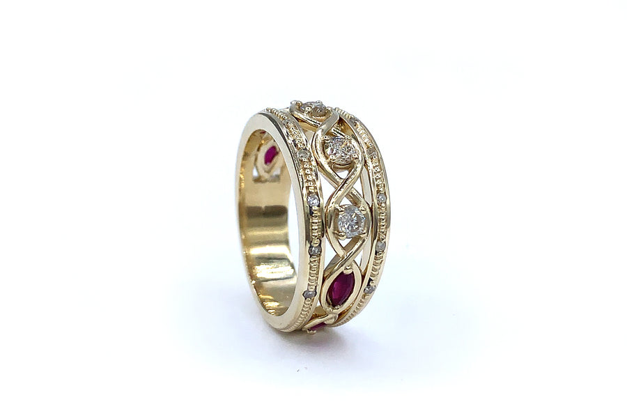 Twisted Diamonds & Rubies