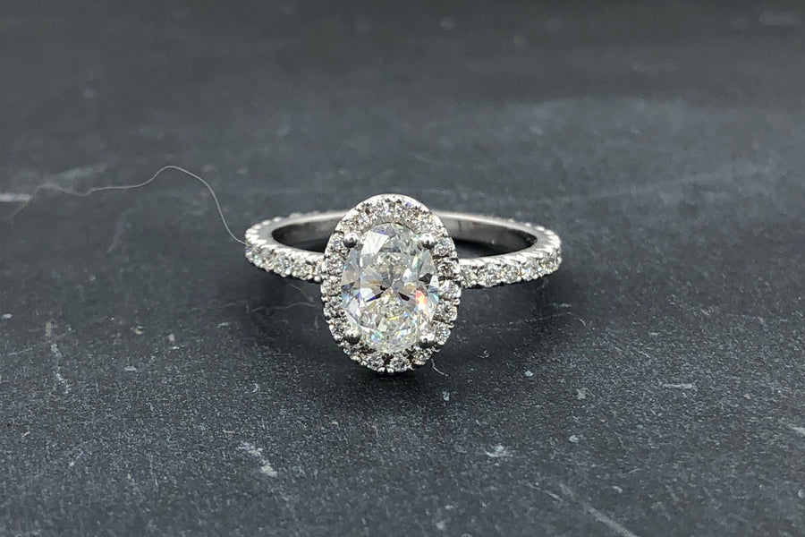 Platinum Oval Halo