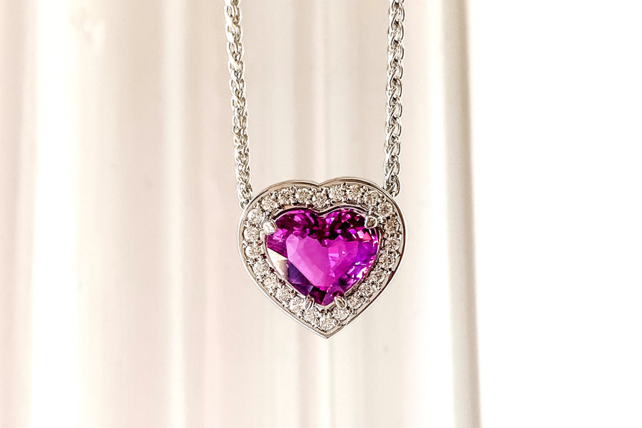 Heart Shaped Pink Sapphire