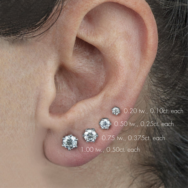 Canadian Diamond Stud Earrings - .50ct tw (34658)