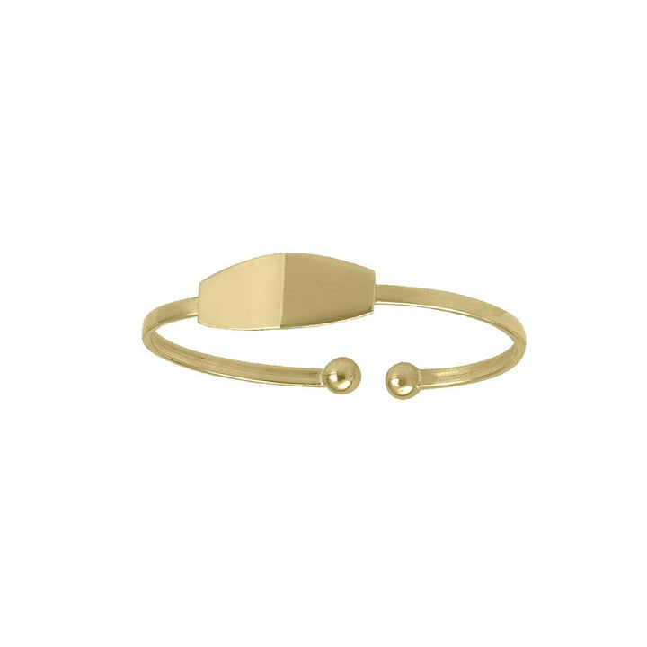 Gold Baby ID Baby Cuff Bangle