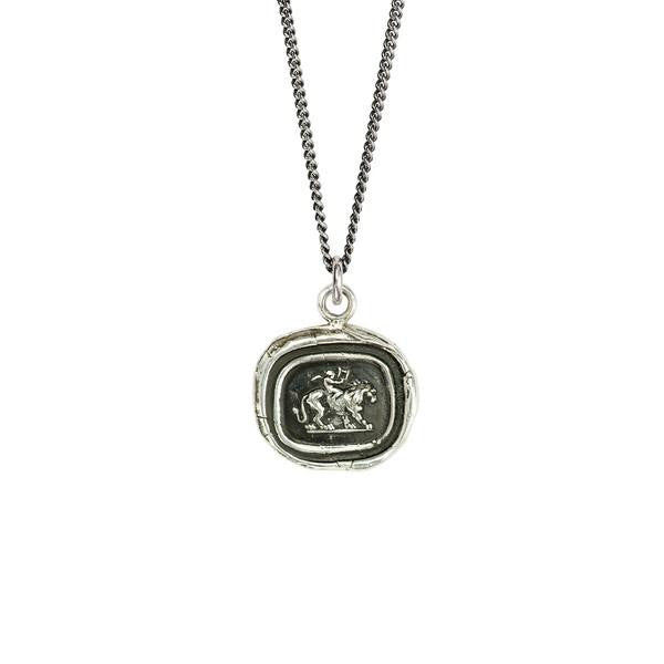 Pyrrha Necklace 'Courage Carries Love'