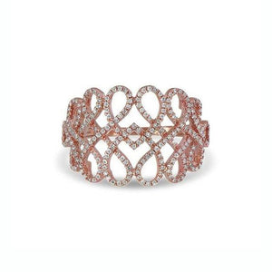 Diamond Celtic Twist Ring