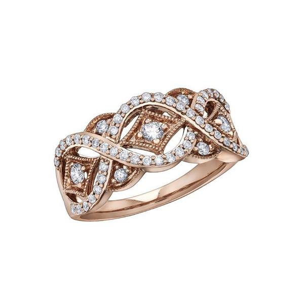 Diamond Fashion Rose Gold Ring