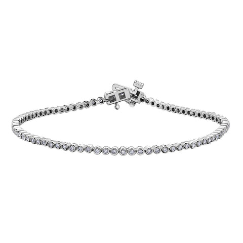 Diamond 'Bezel Bubbles' Bracelet