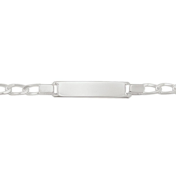Sterling Silver Fancy Link ID Bracelet