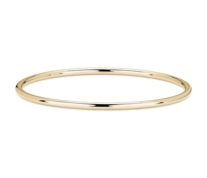 Gold Hollow Round Bangle (31277)