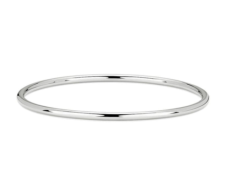 Gold Hollow Round Bangle (31278)