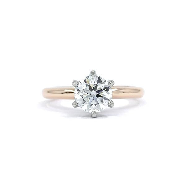 Diamond Solitaire Custom Engagement Ring