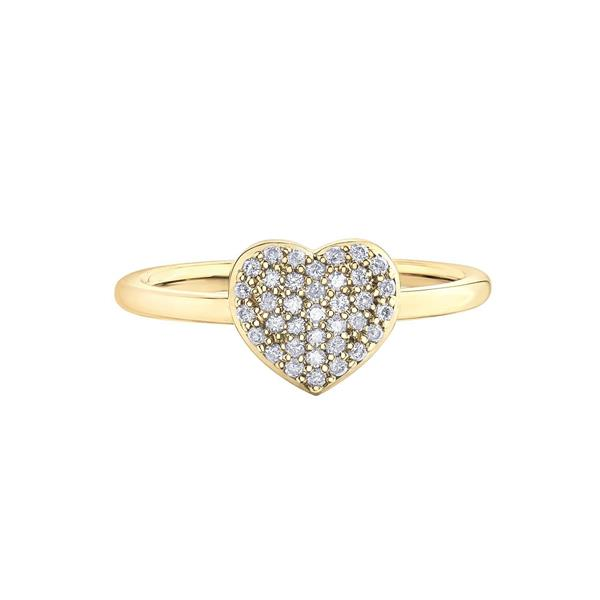 Diamond Pave Heart Promise RIng