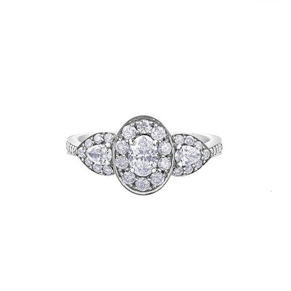 Diamond Oval and Pear Engagement Ring (33418)