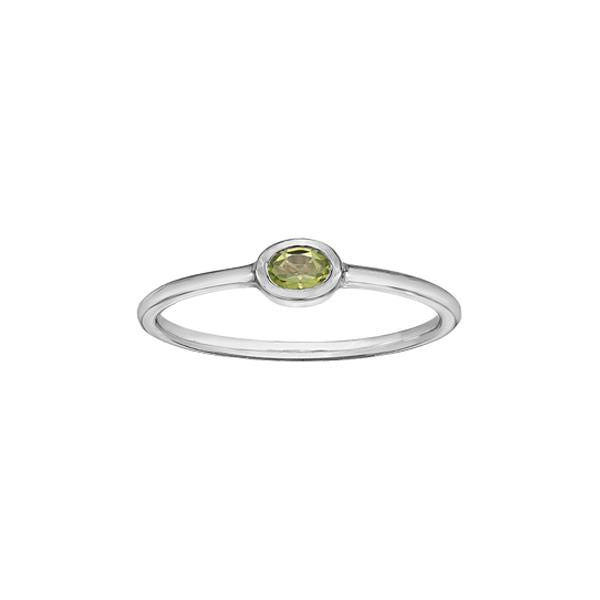 Genuine Peridot Stackable Ring