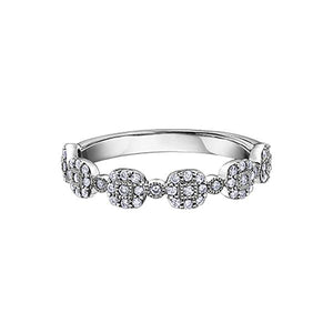 Diamond Stackable Cluster Ring