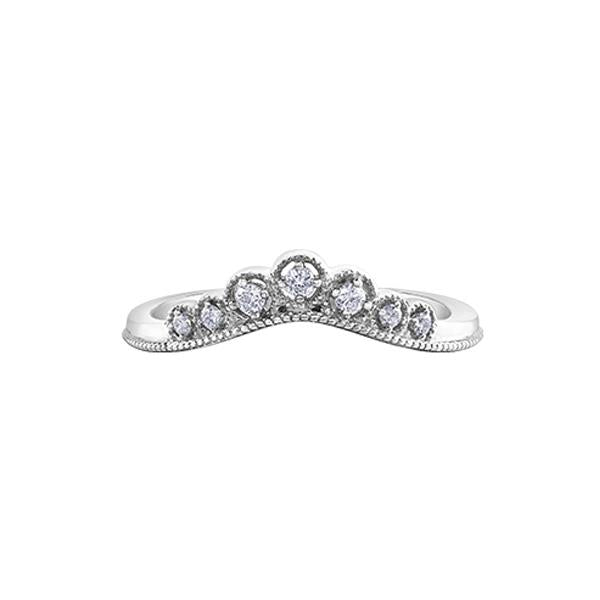 Diamond Tiara Stackable Ring