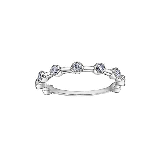 Diamond Stackable Bezel Ring (34425)